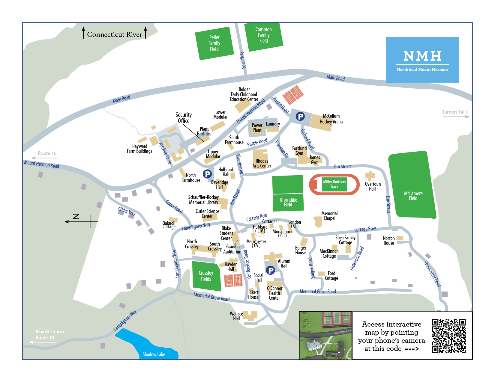 Geneva College Campus Map.Printable Campus Map Northfield Mount Hermon Best Private