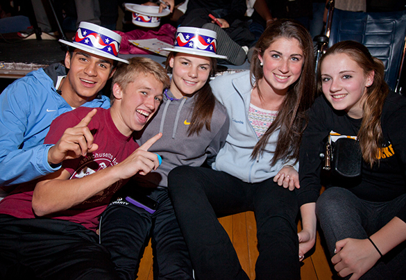 Enthusiastic students at VOTES mock-election night