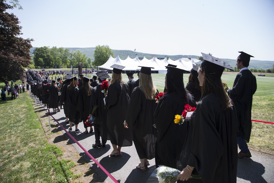 Seniors processing to commencement exercises