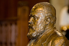 Bronze sculpture bust of D.L. Moody, founder of NMH