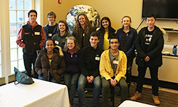 Students attending a sustainability conference