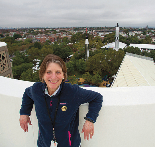 Margaret Honey on the roof of the museum.